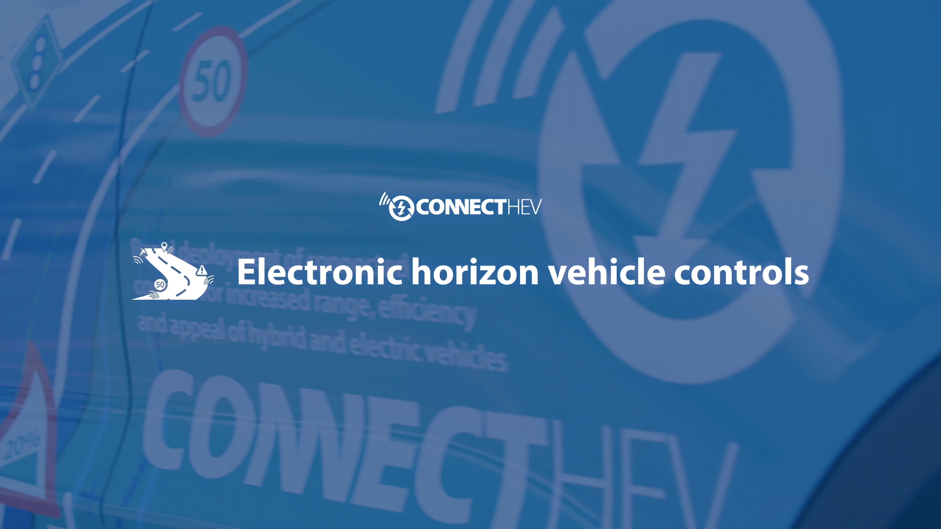 ConnectHEV | 5% vehicle efficiency increase using connected electronic horizon
