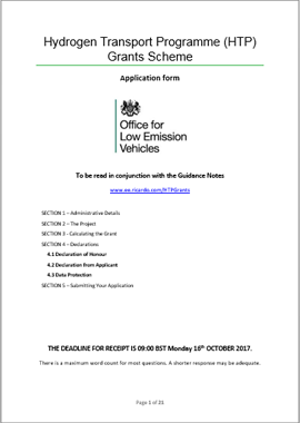 HTP Grants Scheme Application