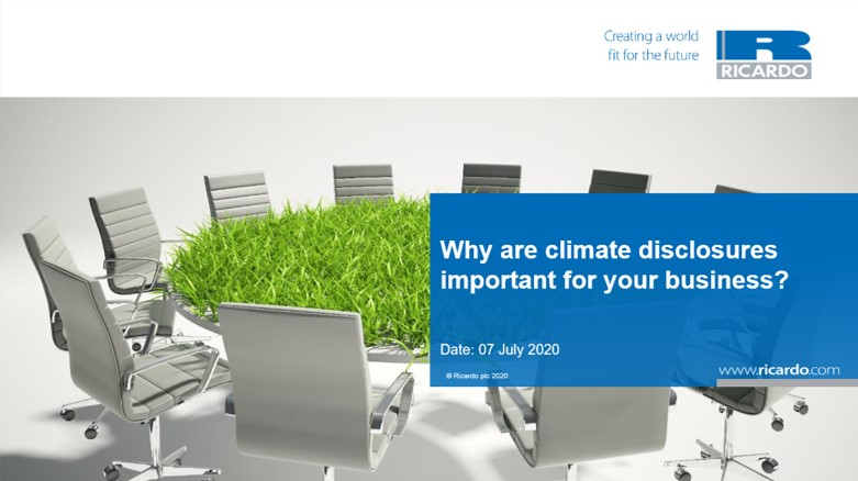 Why are climate disclosures important for your business?
