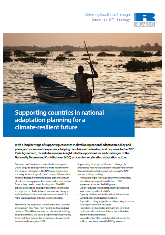 Supporting countries in national adaptation planning for a climate-resilient future