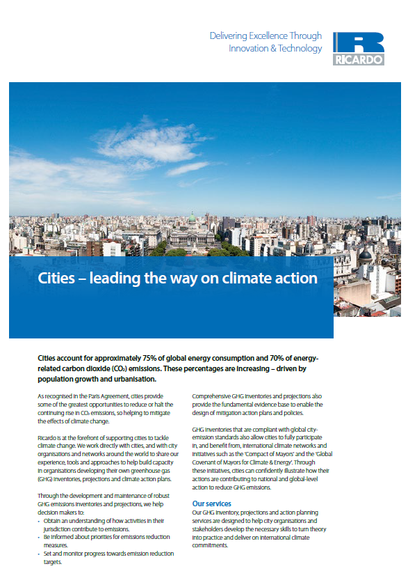 Cities – leading the way on climate action