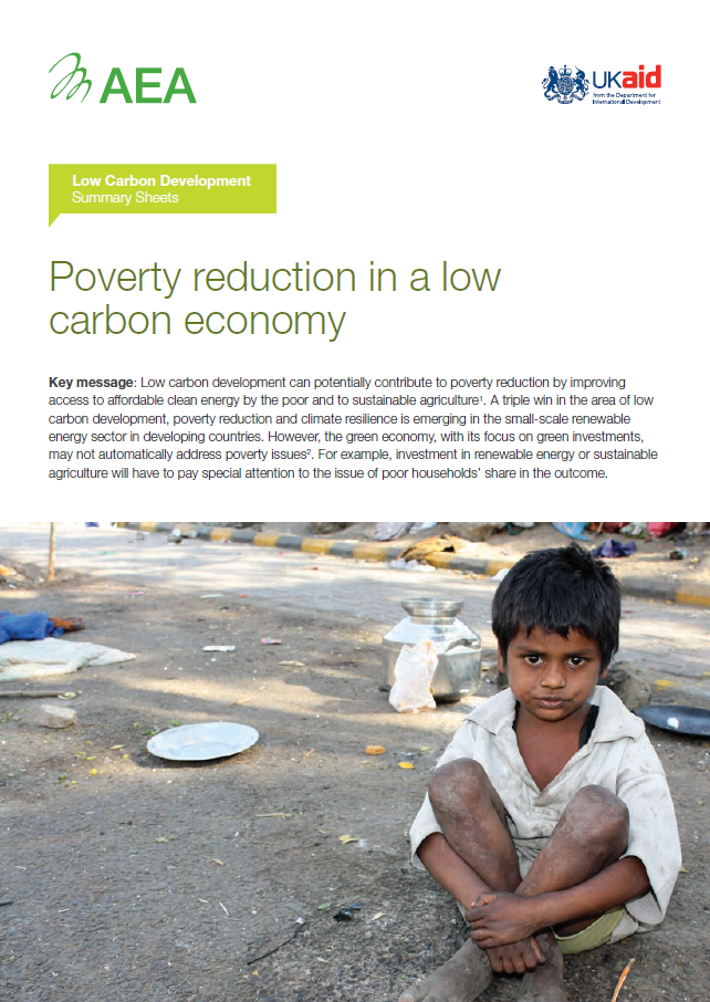 Low Carbon Development Fact Sheet: Poverty