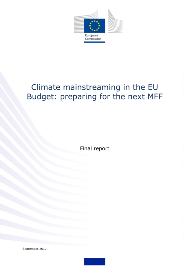 Climate mainstreaming in the EU Budget: preparing for the next MFF