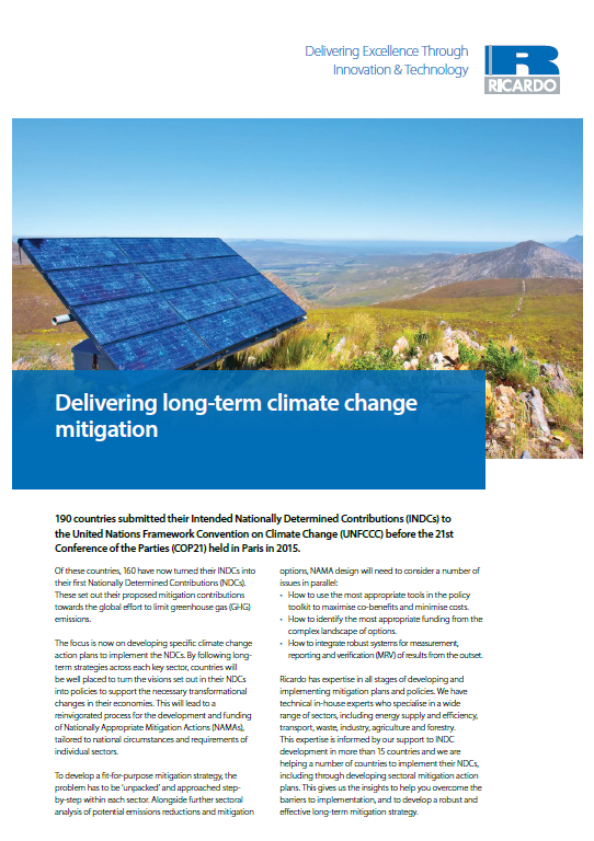 Delivering long-term climate change mitigation