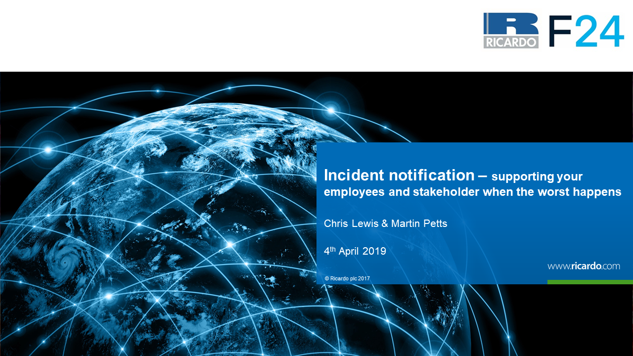 Incident notification – support your employees and stakeholders when the worst happens
