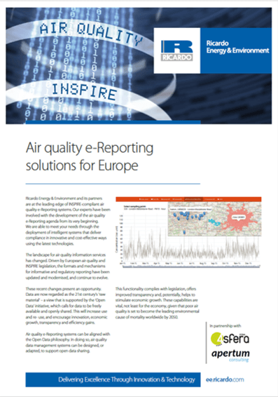 e-Reporting solutions for air quality in Europe