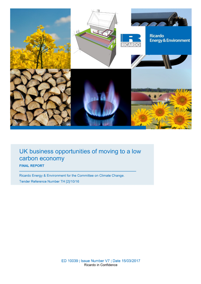 Ricardo research instrumental in demonstrating economic opportunities from low carbon growth
