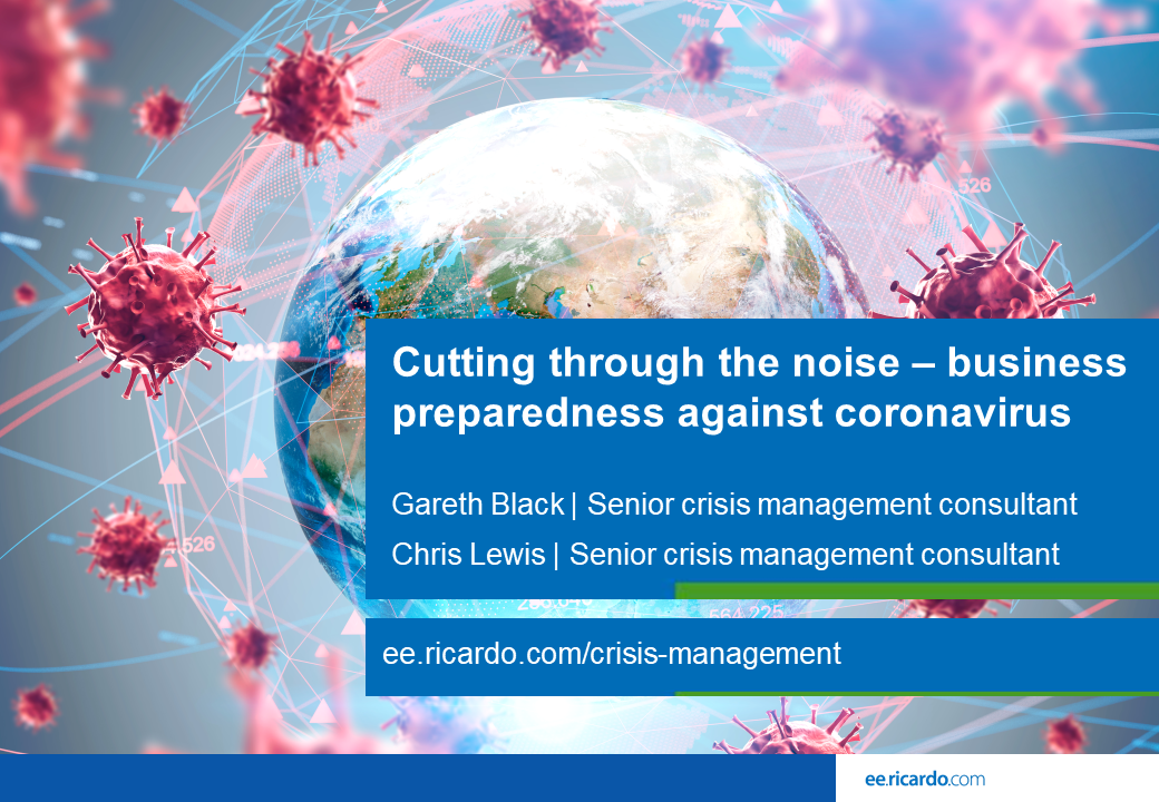 Cutting through the noise – business preparedness against coronavirus