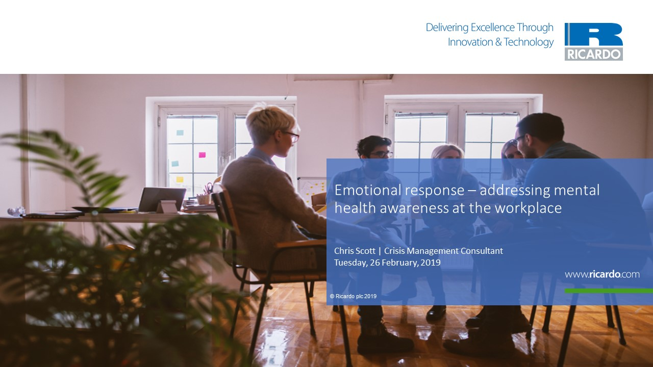 Emotional response – addressing mental health awareness in the workplace