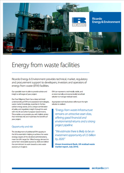 Energy from waste facilities brochure