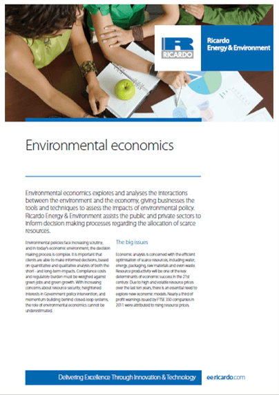 Environmental economics capability statement