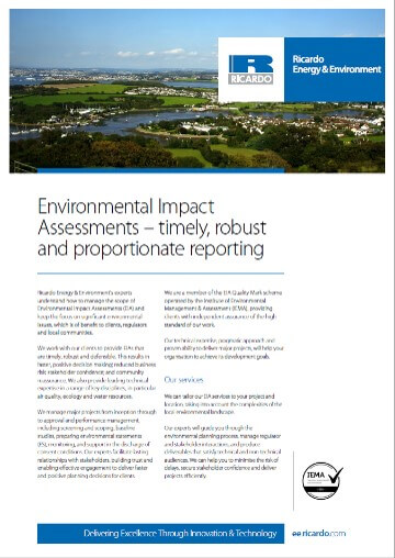 Environmental Impact Assessment Capability Statement
