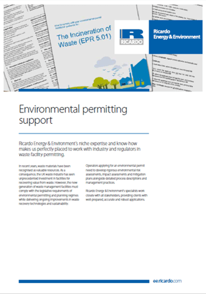 Environmental permitting capability statement