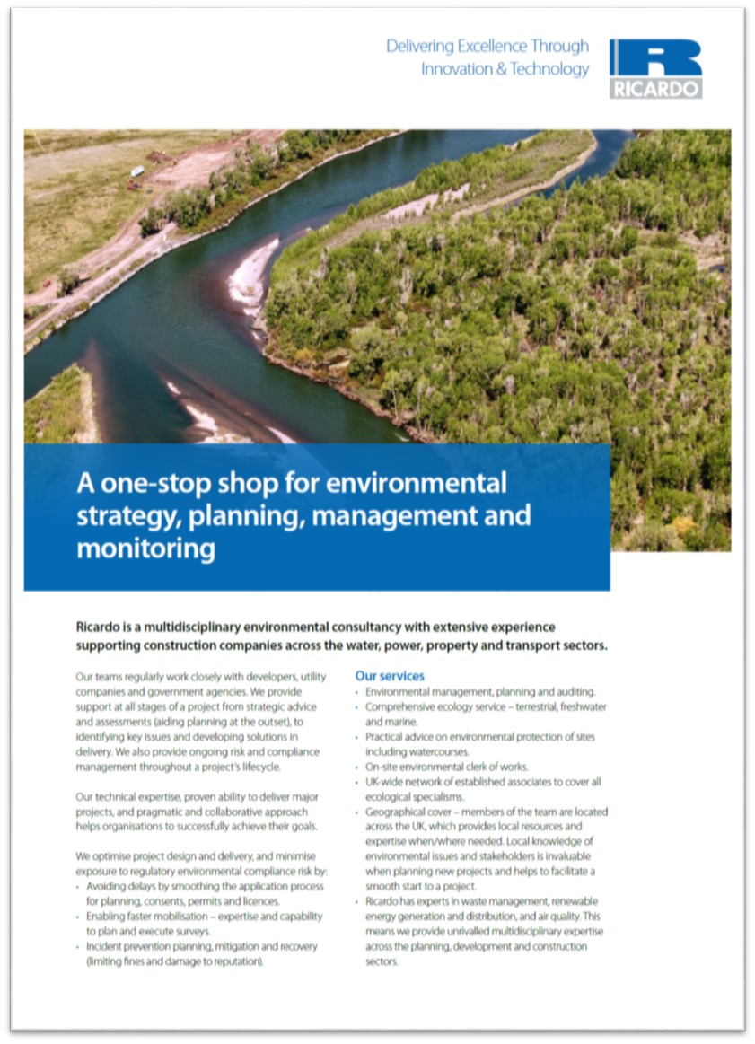 A one-stop shop for environmental strategy, planning, management and monitoring
