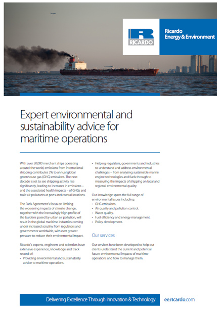 Expert environmental and sustainability advice for maritime operations
