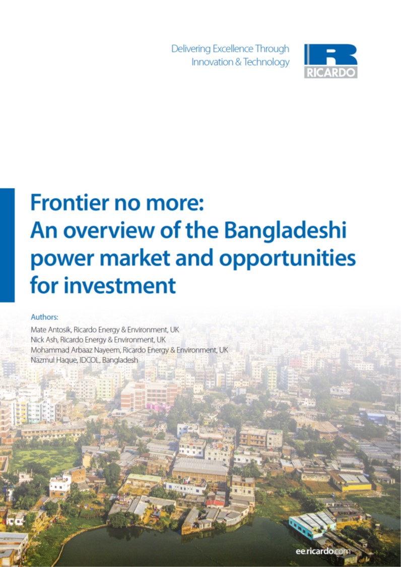 Ricardo white paper outlines case for renewable power investment in Bangladesh