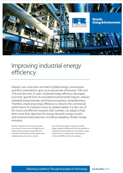 Industrial energy efficiency capability statement