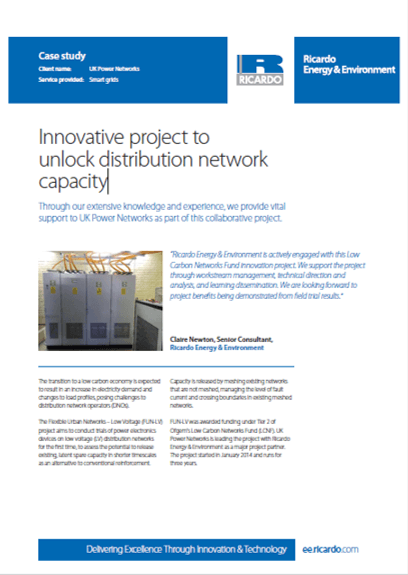 Innovative project to unlock distribution network capacity