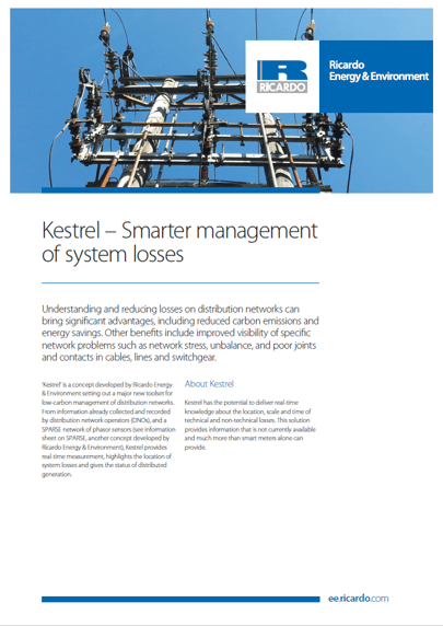 Kestrel smart management of system losses