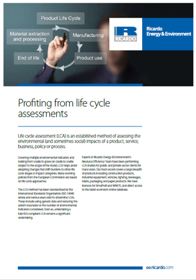 Life cycle assessment capability statement