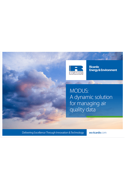 MODUS air quality data software capability statement