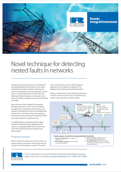 Detection of nested faults in energy networks
