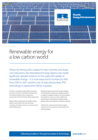 Renewable energy capability statement