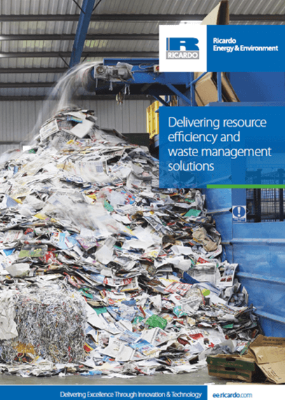 Resource efficiency and waste management services
