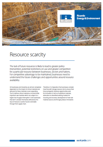 Resource scarcity capability statement