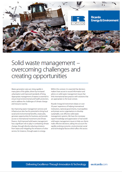 Solid waste management capability statement