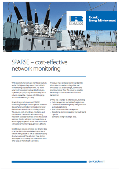 SPARSE capability statement