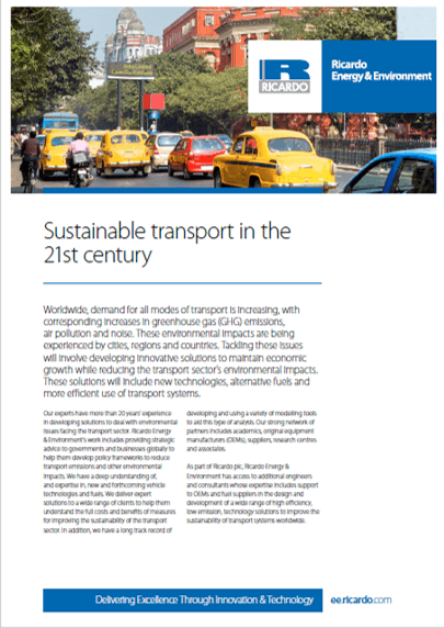 Sustainable transport capability statement