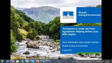 Transparency under the Paris Agreement webinar