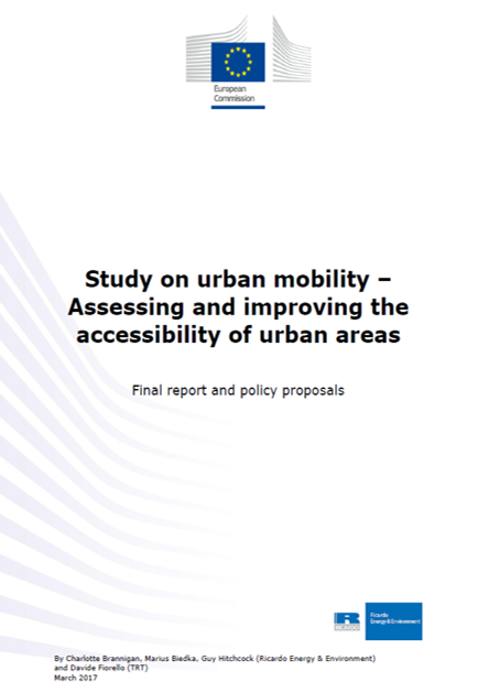 Study on urban mobility – Assessing and improving the accessibility of urban areas