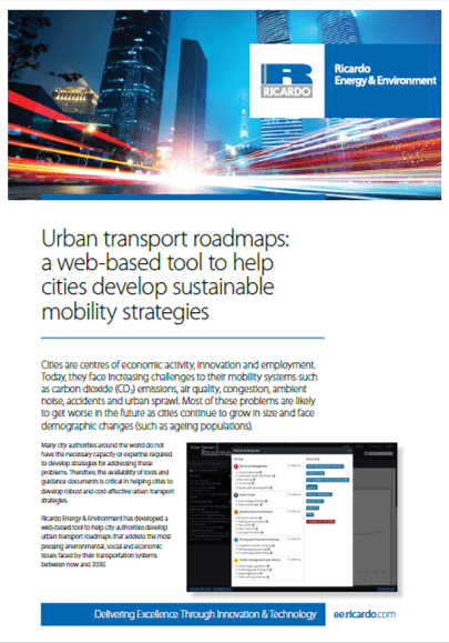 Urban transport roadmaps capability statement