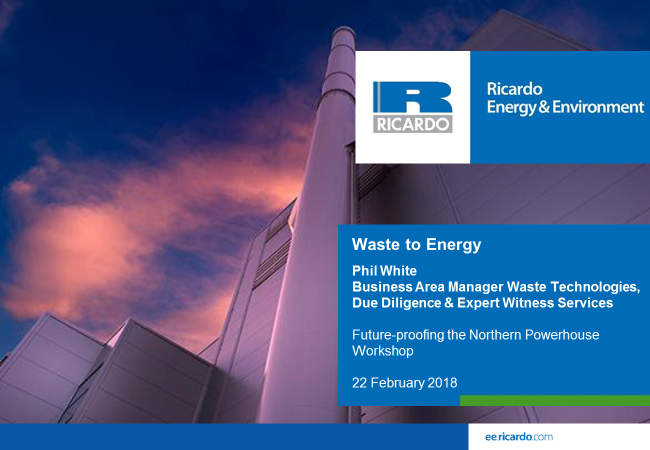 Future proofing the Northern Powerhouse - Waste to Energy