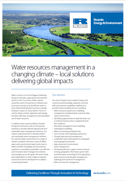 Water resource management capability statement