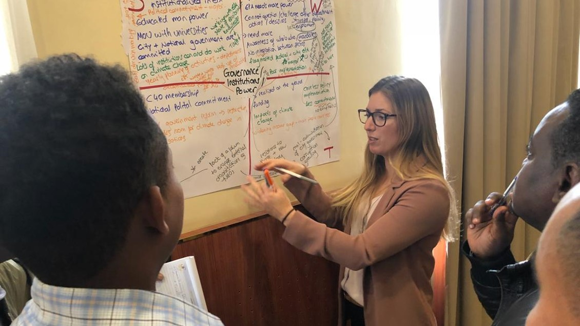 Rose Bailey leading a breakout workshop in Addis Ababa