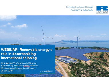 Renewable energy's role in decarbonising international shipping
