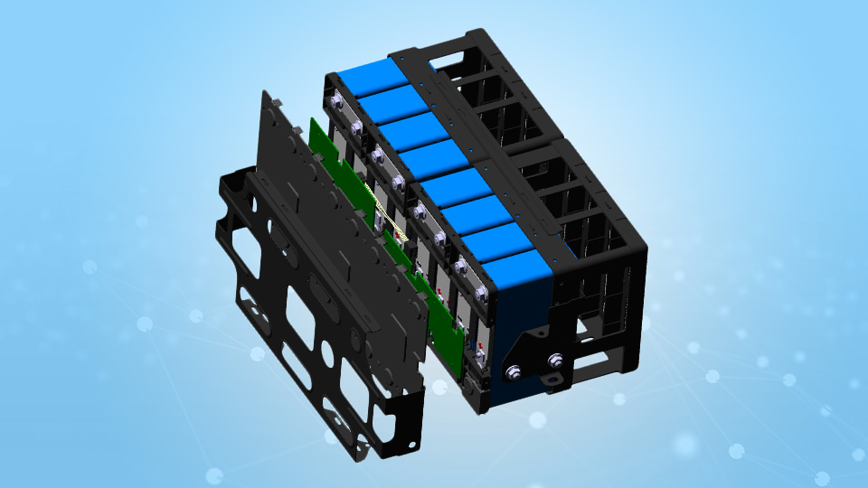 Mitsubishi i-MiEV Battery Module CAD Model