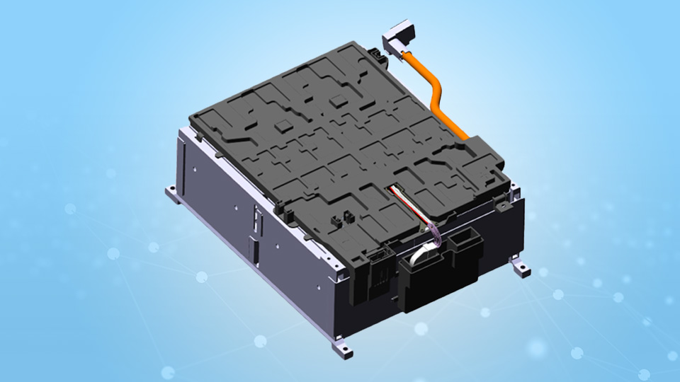 BMW i3 battery module CAD model
