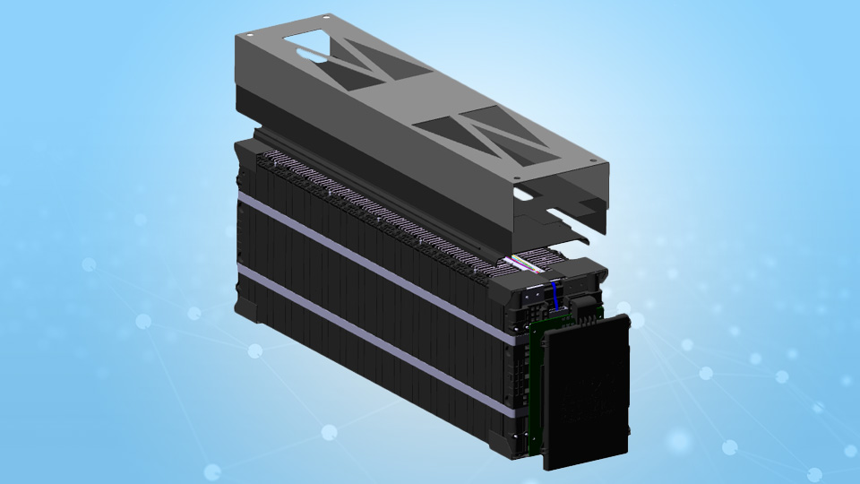 Chevy Spark EV Battery Module CAD Model