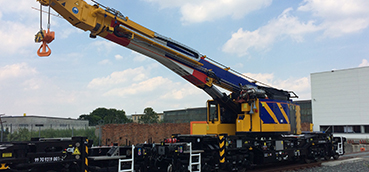 Rail Crane and Switch Tilting wagons achieve Design Acceptance