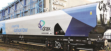 Drax receives 200th specially designed biomass wagon