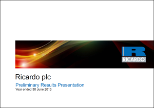 Preliminary Results Presentation 2012/13 - September 2013