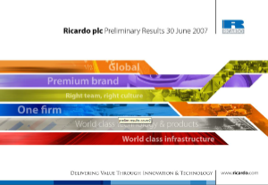 Preliminary Results Presentation 2006/07 - September 2007