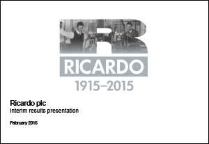 Interim Results Presentation 2014/15 - February 2015