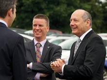 Mark Barge, Dave Shemmans and Ron Dennis (L-R)