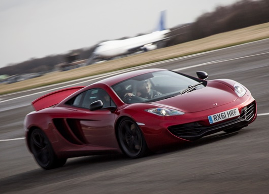 A McLaren 12C on test at Dunsfold