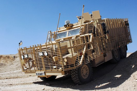 A Mastiff 3 Protected Patrol Vehicle is pictured in Helmand Afghanistan
